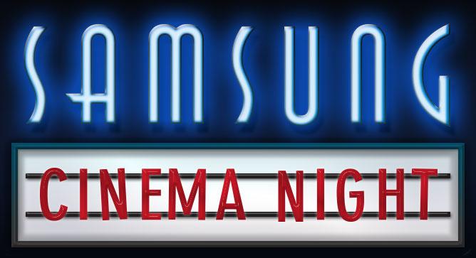 samsung cinema night logo